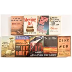 Larry McMurtry Collection of 1st Edition Books