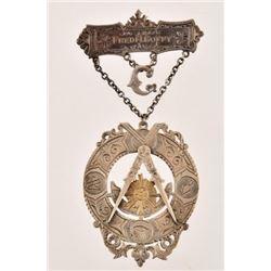 Belton Texas Masonic Lodge Sterling Medal