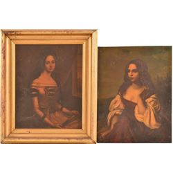 2 Early San Antonio Texas Paintings on Metal