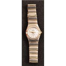 Omega Constellation SS & 18K Gold Ladies Watch