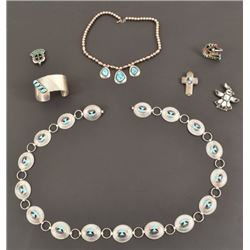 Collection of Sterling Turquoise Marked Jewelry