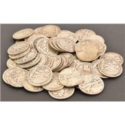 (56) Liberty SIlver Half-Dollars