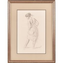 William Whitaker Original Pencil Drawing