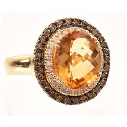 Citrine & Diamond 14K Gold Levian Ring