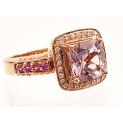 Sapphire & Diamond 14K Rose Gold Levian Ring