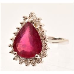 Ruby & Diamond 14K Gold Ring