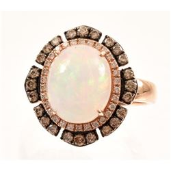 Opal & Diamond 14K Rose Gold LEVIAN Ring