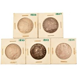 Collection of 1826-1834 Capped Bust Half Dollars