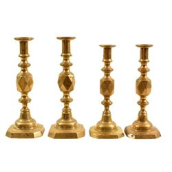 """The King & Queen of Diamonds"" Brass Candlesticks"