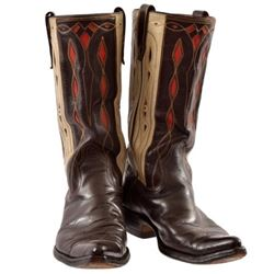 Vintage Inlaid Stove-Top Boots