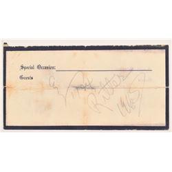 Tex Ritter Autograph
