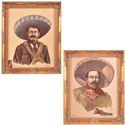 Pancho Villa & Zapata Signed Prints