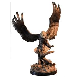 Large Duane Scott Bronze Bald Eagle