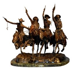 "Frederic Remington ""Coming Thru The Rye"" Bronze"