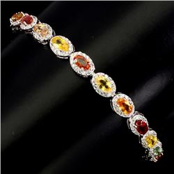 Natural 5x3mm Fancy Color Sapphire Bracelet