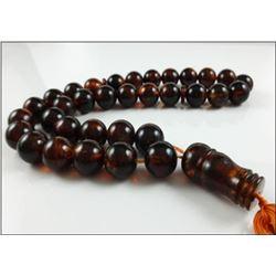 Natural Amber Islamic Prayer 33 beads Tasbih