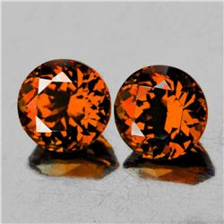 Natural Intense Orange Zircon Pair 4.50 MM - Flawless