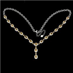 Natural Yellow Citrine 122.50 Carats Necklace