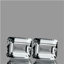Natural White Aquamarine Pair 11x9 MM - Flawless