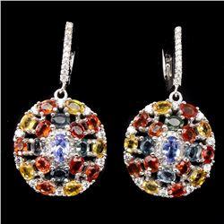 Natural Tanzanite Fancy Sapphire Earrings