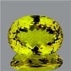 Natural Green Gold Lemon Quartz 53.60 Cts - FL