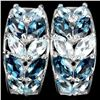 Image 1 : Natural London Blue Topaz Earrings