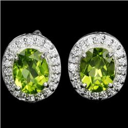 NATURAL AAA GREEN PERIDOT Earings