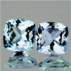 Natural Sky Blue Aquamarine Pair 6.50 MM - FL