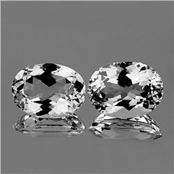 NATURAL BRILLIANT FIRE LUSTER WHITE TOPAZ PAIR - FL
