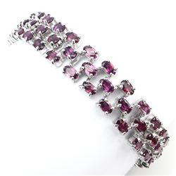 Natural Raspberry Rhodolite 104 Carats Garnet Bracelet