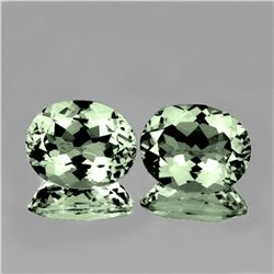Natural  Green Amethyst Pair 12x10 MM - FL
