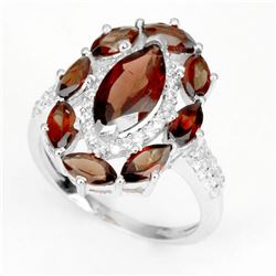 Natural African Garnet 21.46 Cts Ring