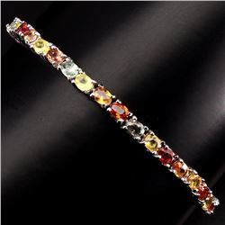 Natural Fancy Colors Sapphire 41.89 Ct Bracelet