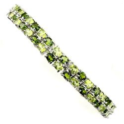 Natural Peridot Chrome Diopside 93.56 Cts Bracelet