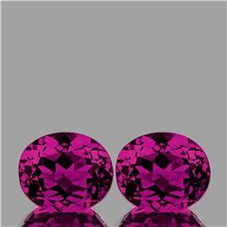 Natural AAA Magenta Purple Rhodolite Garnet Pair