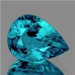 Natural Electric Blue Zircon 11 x 8 MM {VS}