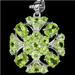 NATUARL APPLE GREEN PERIDOT FLOWER PENDANT