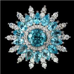 Natural Rare Brazil Neon Blue Apatite Ring