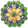 Image 2 : Natural CHROME DIOPSIDE CITRINE SAPPHIRE  Ring