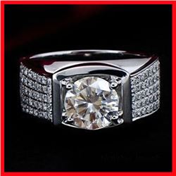 Dazzling 3 Ct Centerstone Lab Diamond Ring