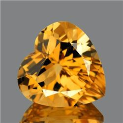 NATURAL GOLDEN ORANGE CITRINE Heart 11 MM - FL