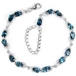 Natural LONDON BLUE TOPAZ Bracelet
