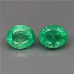 Natural Columbian Emerald Pair 6x5 MM - Untreated