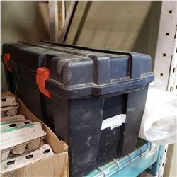 BLACK TOOL BOX W/ CONTENTS