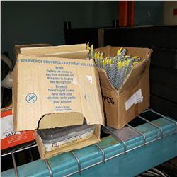 2 BOXES OF EXTERIOR SCREWS