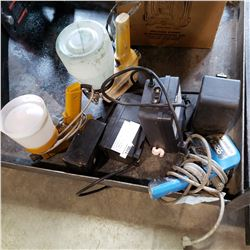 4 ELECTRICAL TIMER BOXES AND 3 ELECTRICAL PAINT SPRAYERS