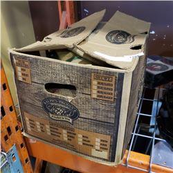 BOX OF BURLAP SACKS