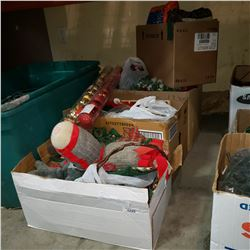 4 BOXES ON CHRISTMAS DECOR AND ORNAMENTS