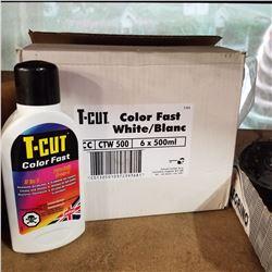 BOX OF 6 T-CUT COLOUR FAST 3 IN 1 CAR WAX