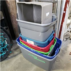 LOT OF 8 TOTES